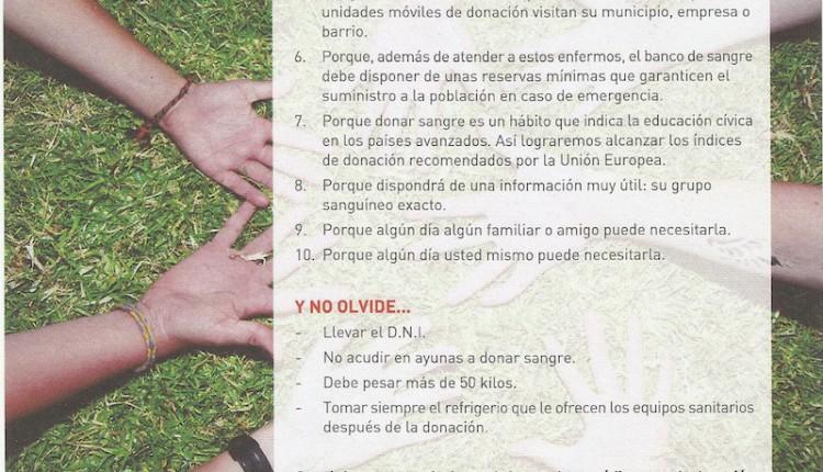 Campaña de donación de sangre co-organizada por la Hermandad del Rocío de Osuna