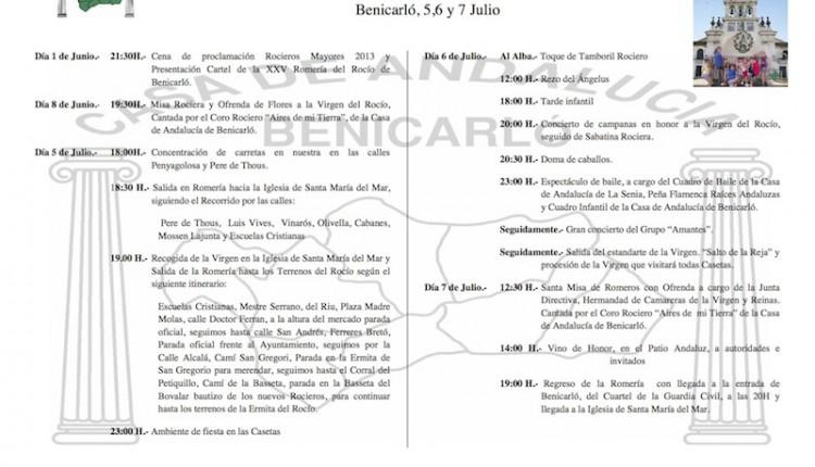 Casa Andalucía en Benicarló – XXV Edición de la Romería del Rocío