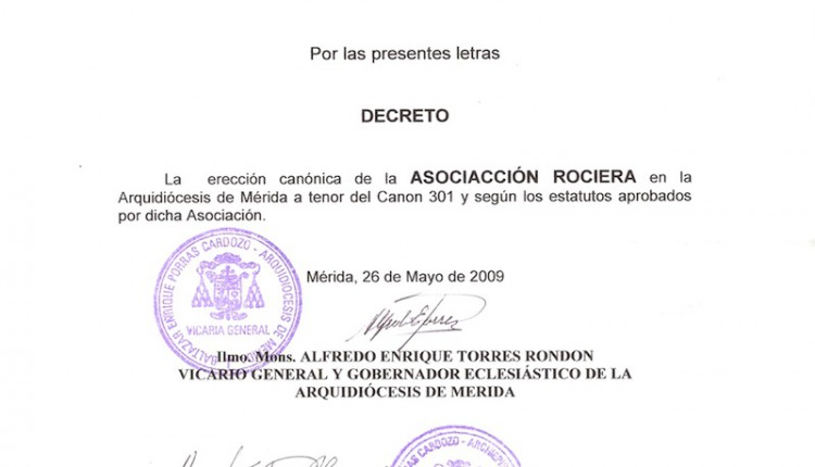 Agrupación Ntra. Sra. del Rocío de Mérida ( Venezuela)