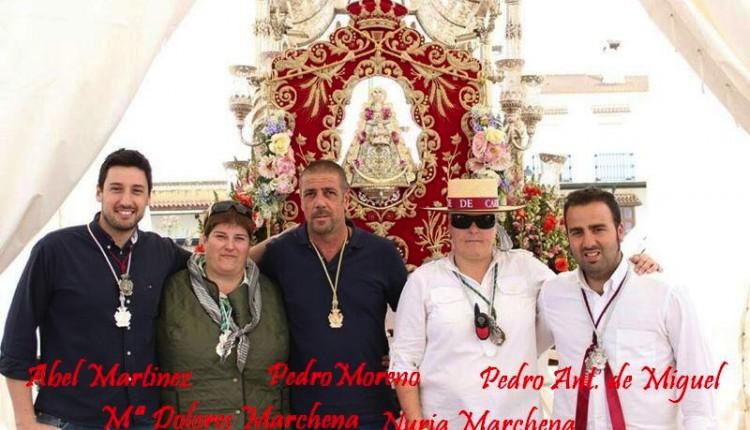 Toma de Posesión de Pedro Ant. de Miguel como nuevo Hermano Mayor de la Hdad del Rocio de Las Cabezas de San Juan el Sabado 27 de Julio.