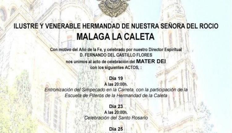 Hermandad de Málaga la Caleta – celebración del Mater Dei