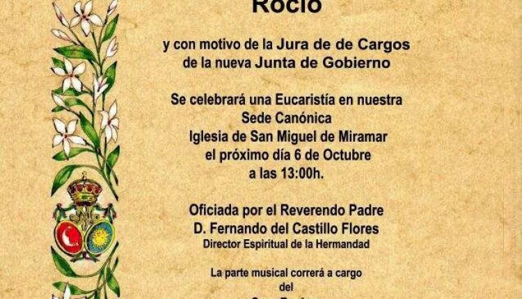 Hermandad de Málaga la Caleta – Jura de cargos nueva Junta