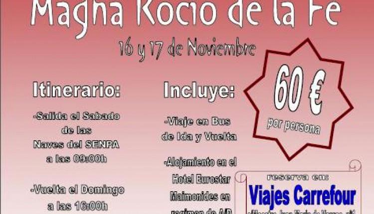 Viaje Mariano de la Hdad del Rocio de Las Cabezas de San Juan a Córdoba con motivo de la Magna Rociera de la Fé