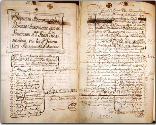 Primer acta de Cabildo del Rocío de Triana (web Hdad. de Triana)