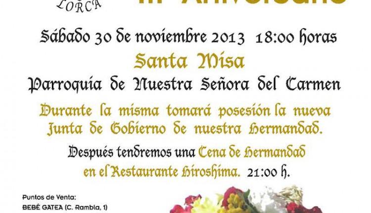 Futura Hermandad de Lorca (Murcia) – Velada III Aniversario