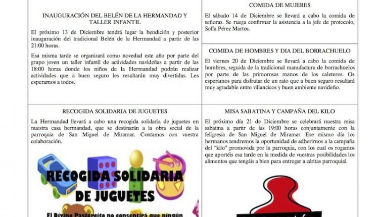 Hermandad de Málaga la Caleta – Hoja informativa diciembre 2013