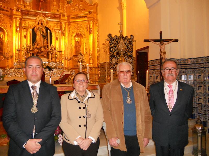 De nuevo los tres presidentes con la alcaldesa de Isla Cristina, María Luísa Faneca.