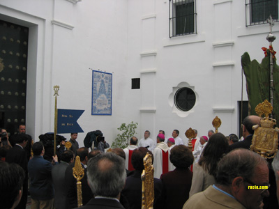 Acto de bendición del azulejo conmemorativo