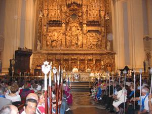 Misa en la Basilica del Pilar