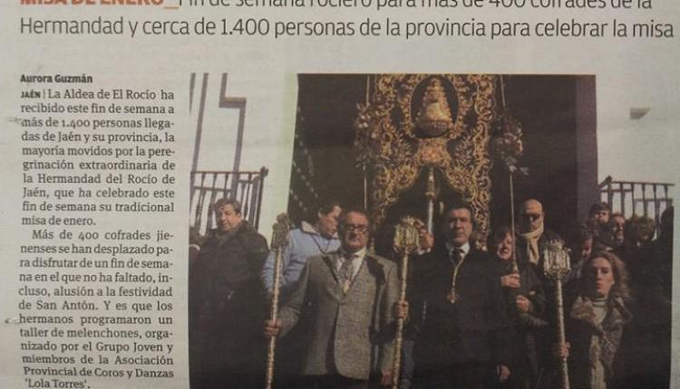 Hermandad de Jaén – Peregrinación extraordinaria