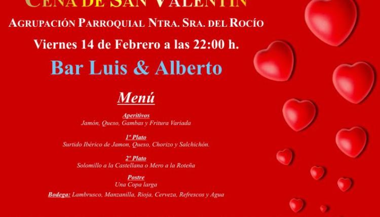 Agrupación Parroquial de Ntra. Sra. del Rocío de El Cuervo – Cena San Valentín