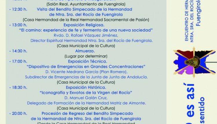 Encuentro de Hermandades y Asociaciones de Ntra. Sra. del Rocío de Málaga y provincia en Fuengirola
