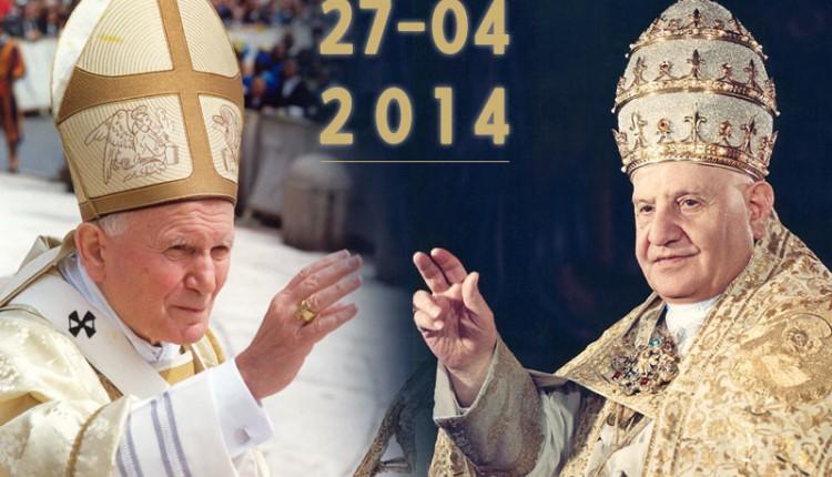 Hoy domingo 27 de abril Canonización de los Beatos Juan XXIII y Juna Pablo II – TV DIRECTO