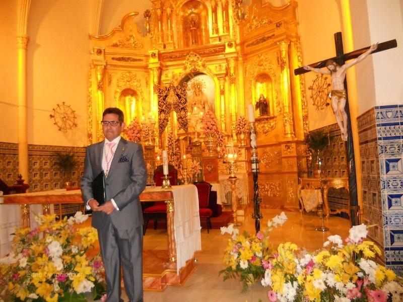 Rafael Salgado Galloso, Pregonero del XXXIII Pregón rociero de Isla Cristina, en dos momentos del mismo.