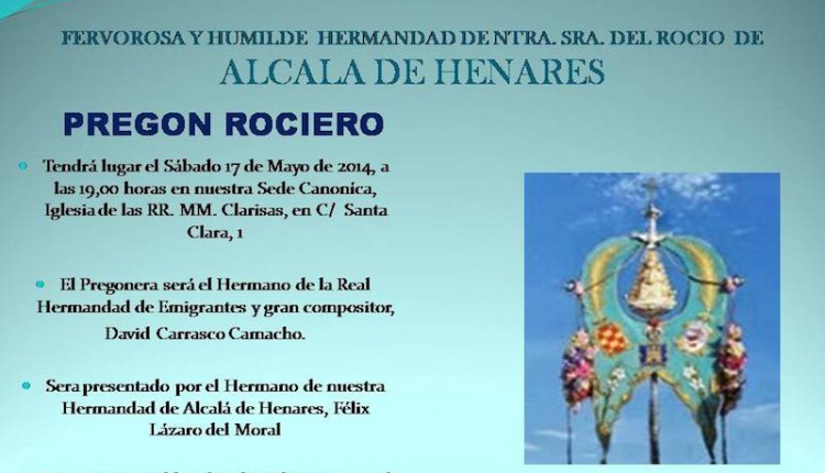 Hermandad de Alcalá de Henares –  Pregón Rociero