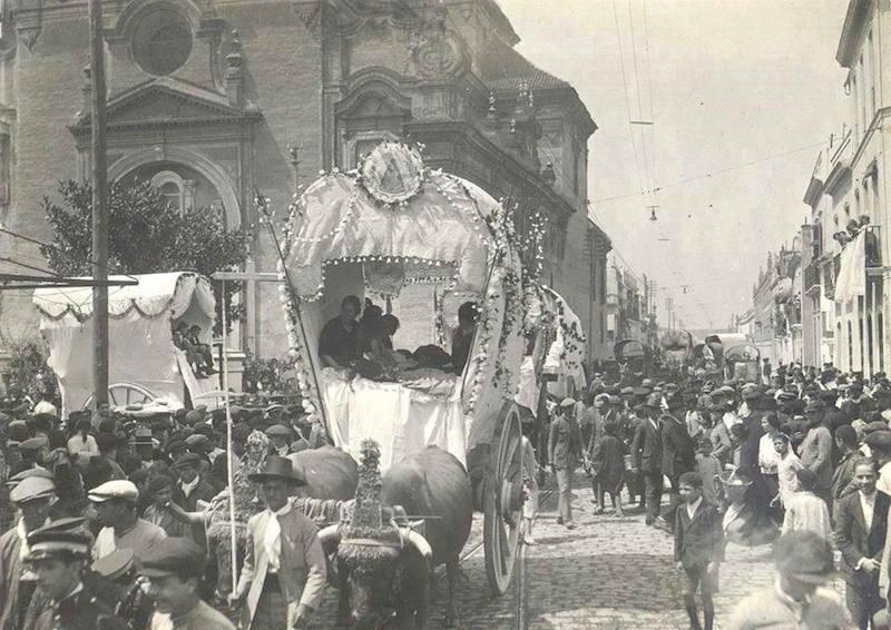 Salida de la Hdad. de Triana en 1929