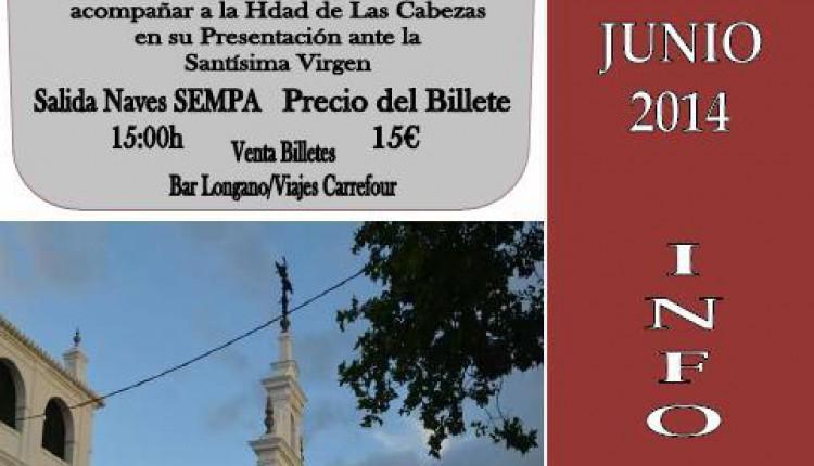 CAMINO DEL ROCIO 2014-HDAD NTRA SRA DEL ROCIO DE LAS CABEZAS DE SAN JUAN