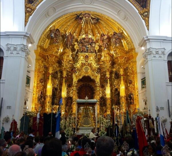 En el Santuario ya de vuelta (Foto de Rocío de Almonte)