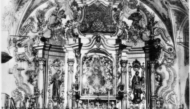 Retablo – Camarin del siglo XVIII de la Virgen del Rocío.