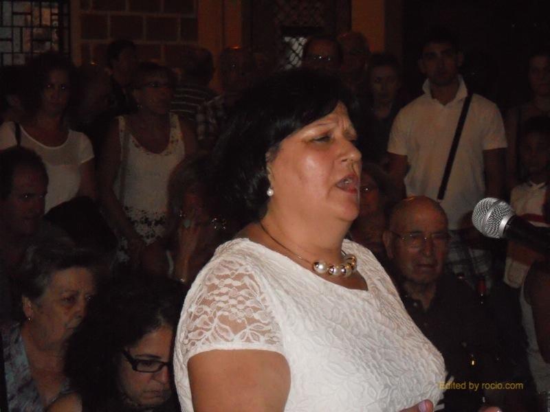 Momento de la interpretación de una colombiana de Loli Garrido
