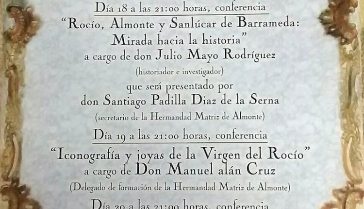 Hermandad de Sanlúcar – Conferencia – El Rocío, Almonte y Sanlúcar de Barrameda. Mirada hacia la historia –