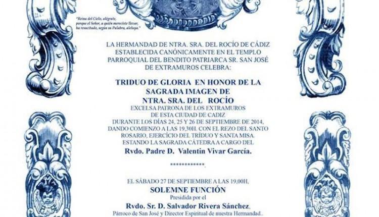 Hermandad de Cádiz – Triduo a la Virgen del Rocío