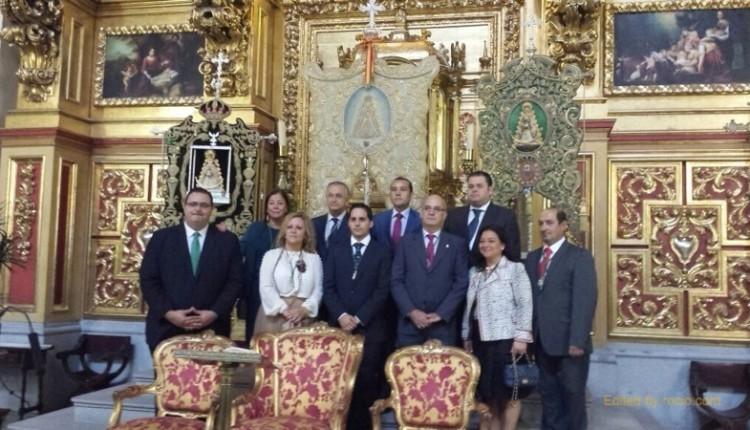 La Hermandad del Rocío de Huelva ha estado presente en el acto -Rocío Camino de Esperanza-