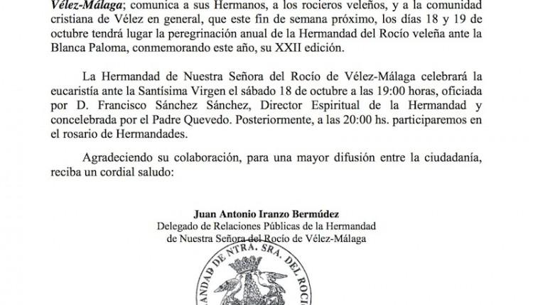 Hermandad de Vélez-Málaga – Peregrinación al Rocío