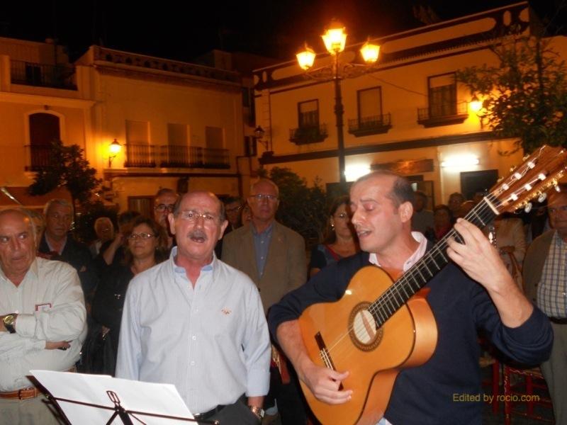 José Luís y Javier Carrasco cantando la Salve