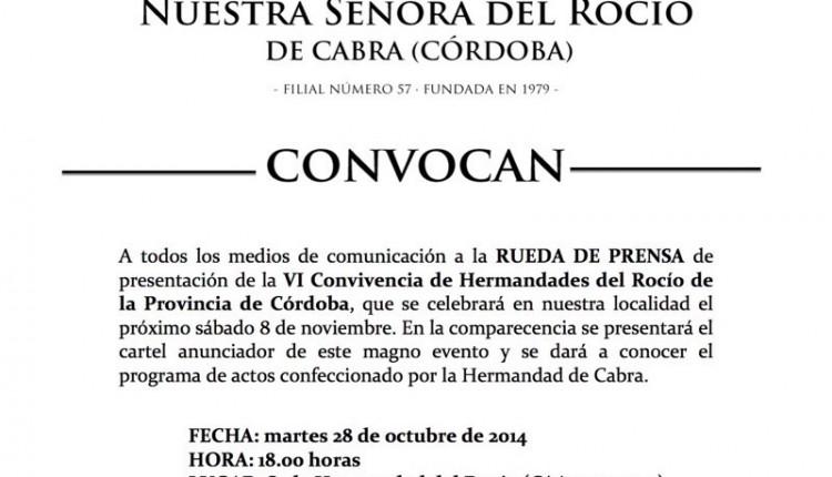 Hermandad de Cabra – VI Convivencia de Hermandades del Rocío de la provincia de Córdoba.