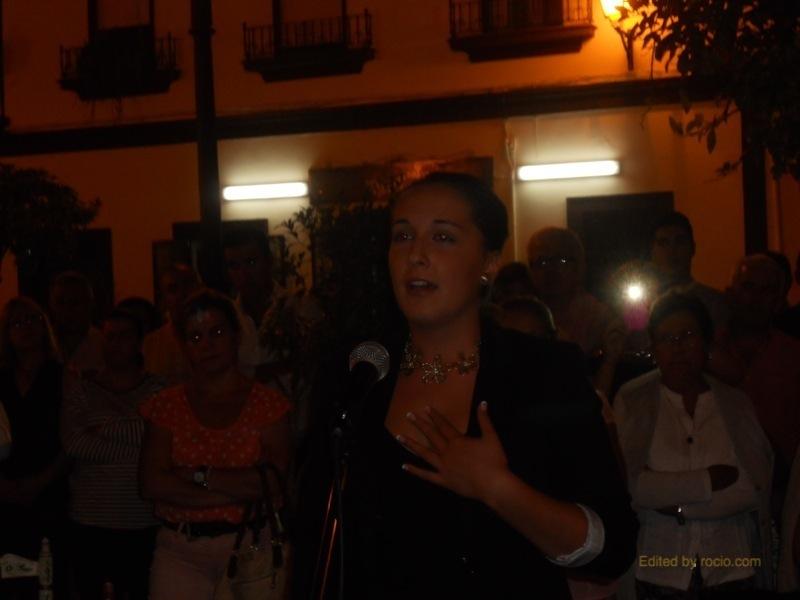Momento en que Inés canta la Salve