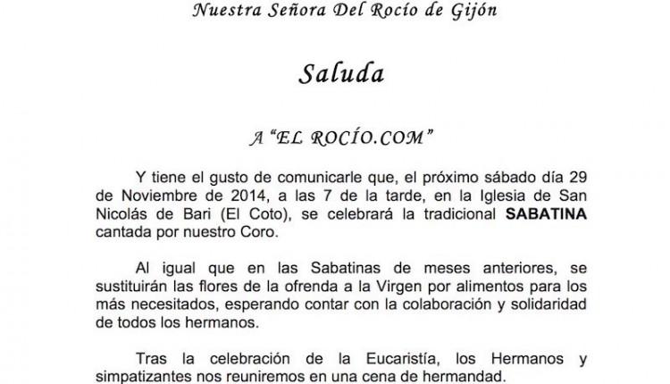Hermandad de Gijón – Tradicional Sabatina