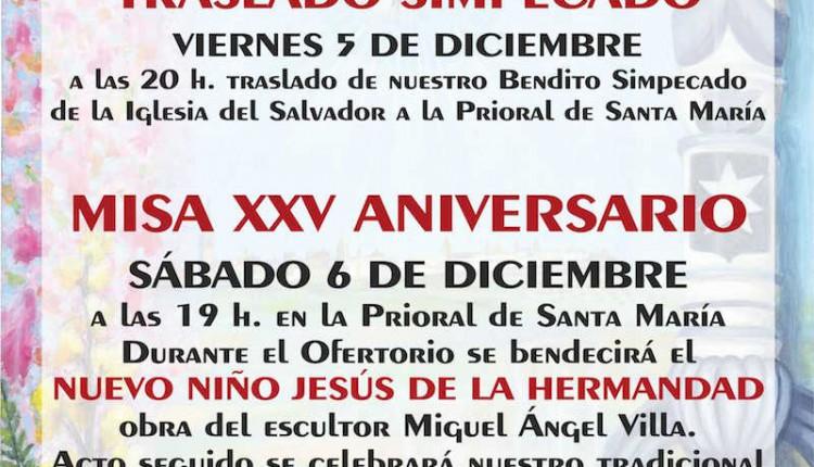 Hermandad de Carmona – Traslado Simpecado y Misa XXV Aniversario