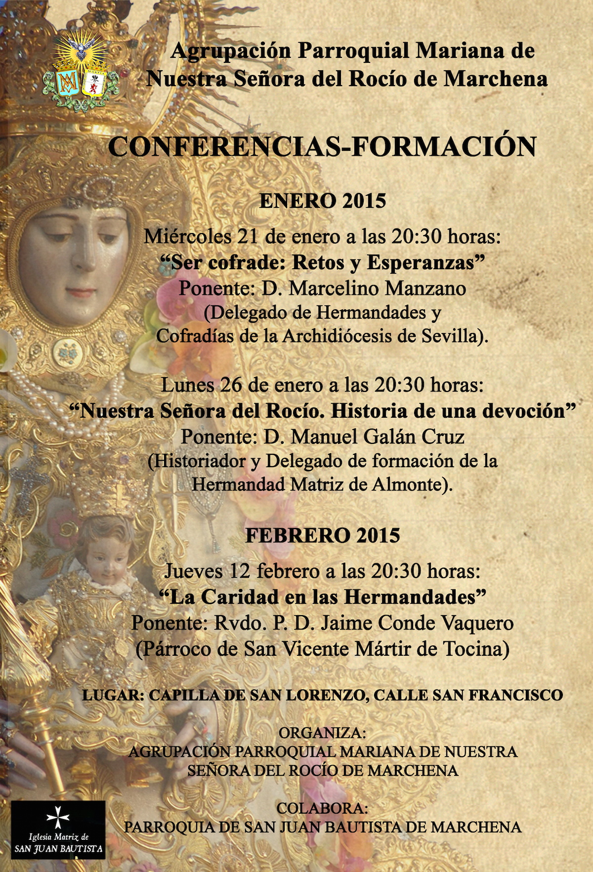 Cartel Conferencias rocio