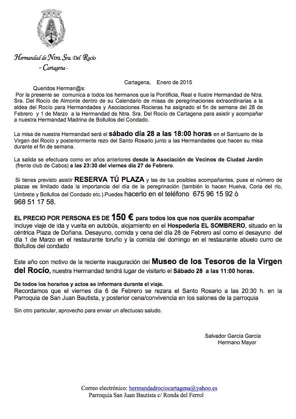circular misa de peregrinacion 2015