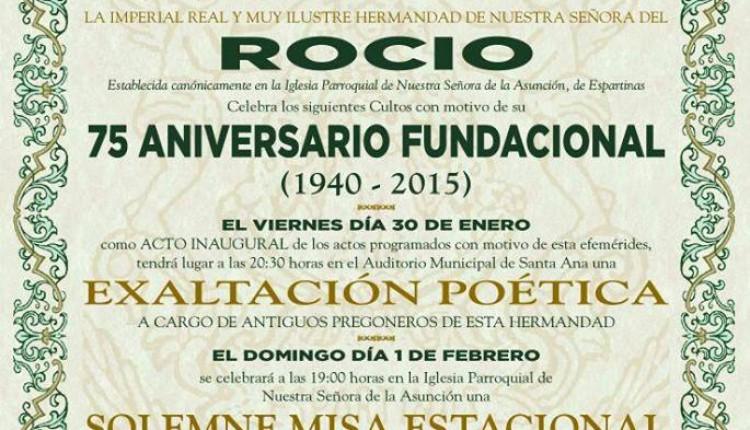 Hermandad de Espartinas – Exaltación Poética y Solemne Misa por el 75 aniversario
