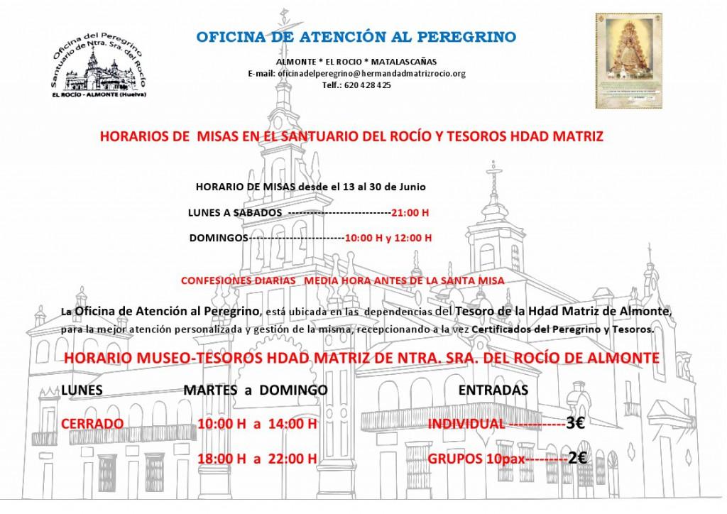 misas 13 al 30 junio