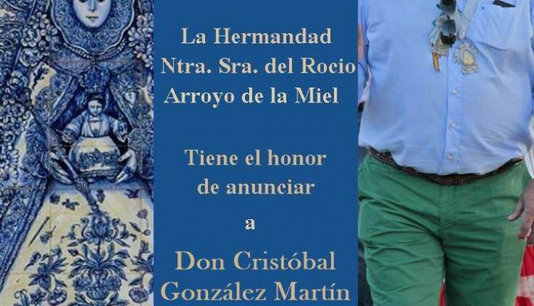 Hermandad de Arroyo de la Miel – D. Cristobal González Martín, pregonero Romería 2015
