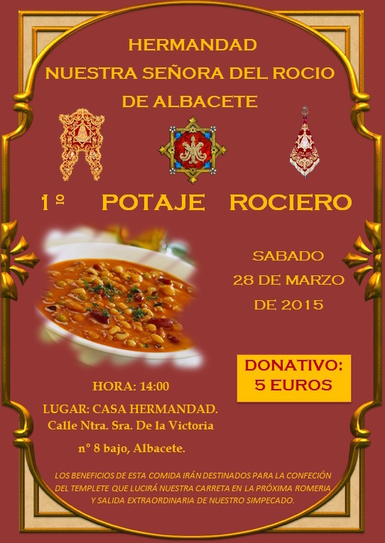 Albacete -CARTEL POTAJE ROCIERO 2015