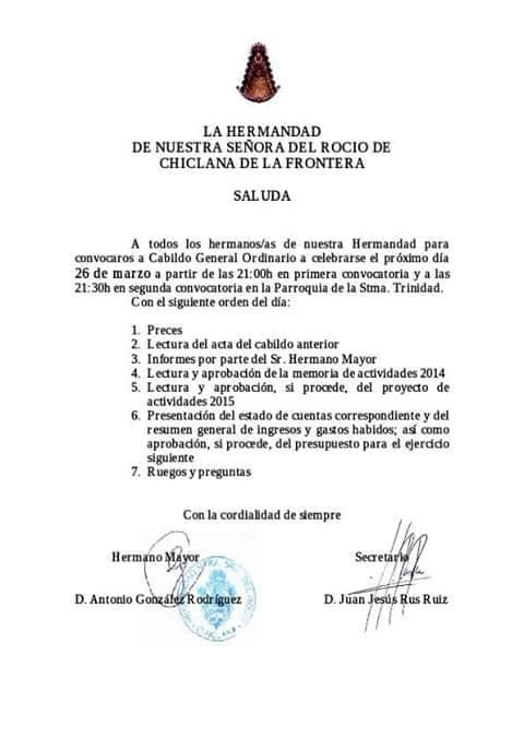 Chiclana cabildo 2015