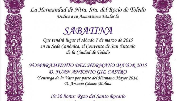 Hermandad de Toledo – Sabatina y entrega vara al nuevo Hermano Mayor