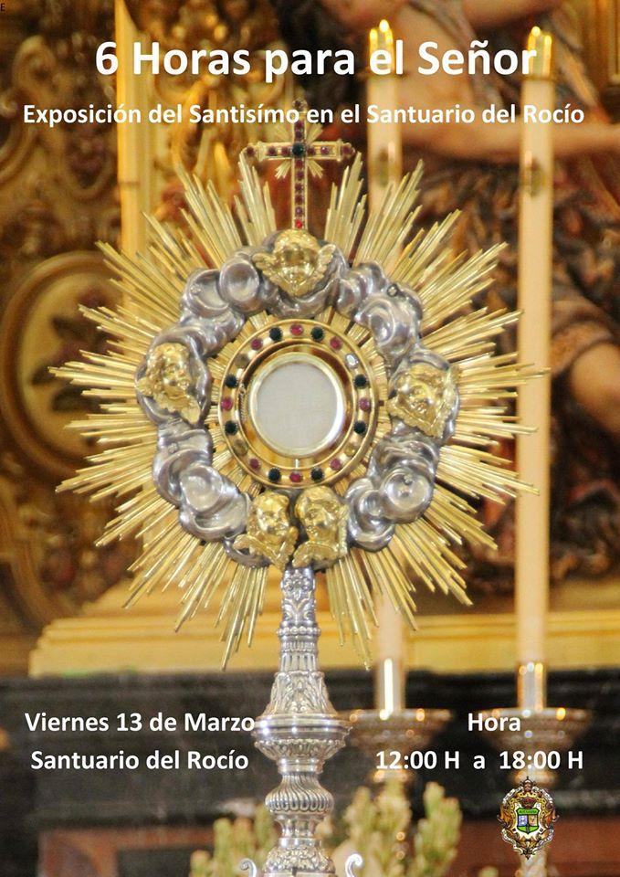 exposicion santisimo 13-03-2015-en el Rocio