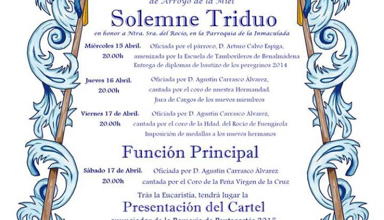 Hermandad de Arroyo de la Miel – Solemne Triduo 2015