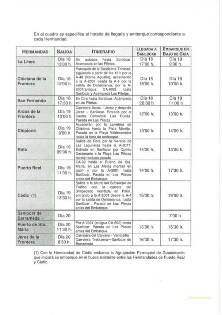 Bajo Guia 2015-2-HORARIO-HERMANDADES-ROCIO