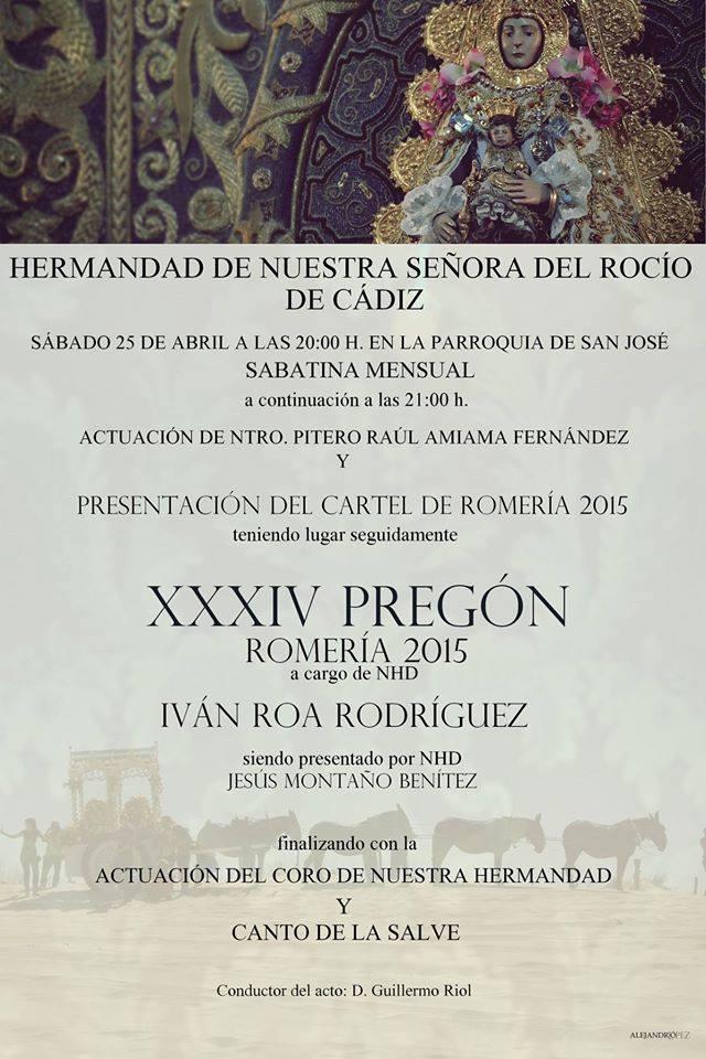 Cadiz pregon 2015