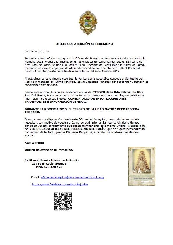 Carta Romeria 2015