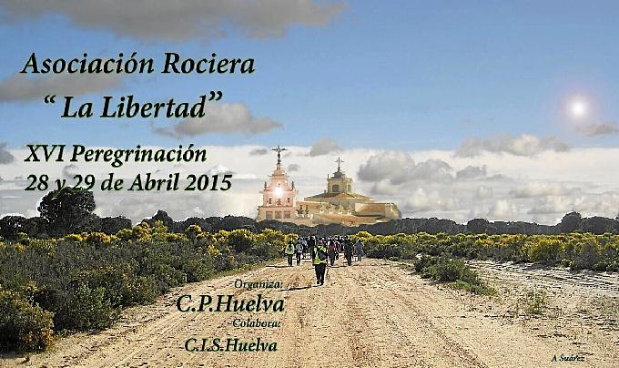 Cartel Peregrinación al Rocío Prisión Huelva 2015