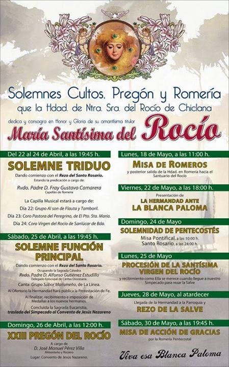 Chiclana Cartel y pregon 2015