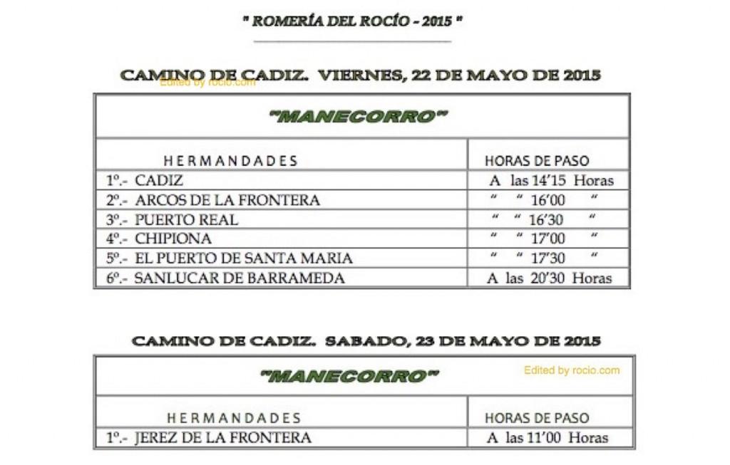 HORARIOS DE PASO ROMERIA 2015-13