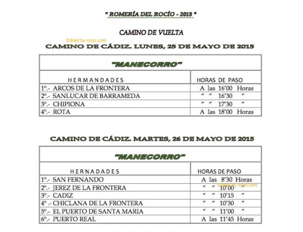 HORARIOS DE PASO ROMERIA 2015-14